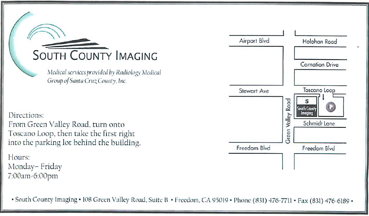 Directions to South County Imaging facility
